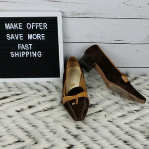 Lily of Florence Sz38.5 Euro/8 Suede Pointed Shoes
